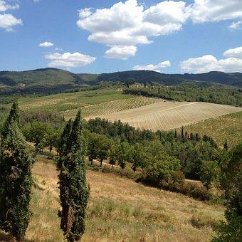 Tuscany, Field, Landscape, Countryside, Italian, Italy