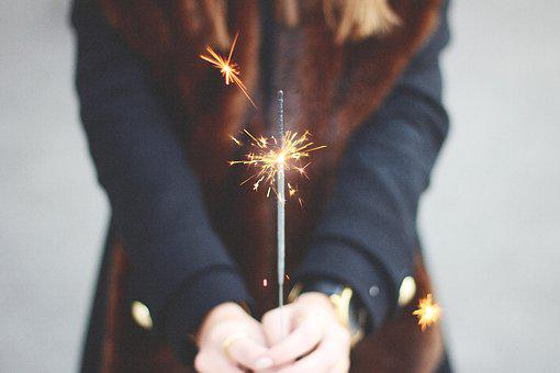 Hands, Light, Macro, Person, Sparkler