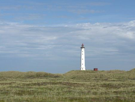Lighthouse, North Sea, Denmark, Island, Sylt, Sky