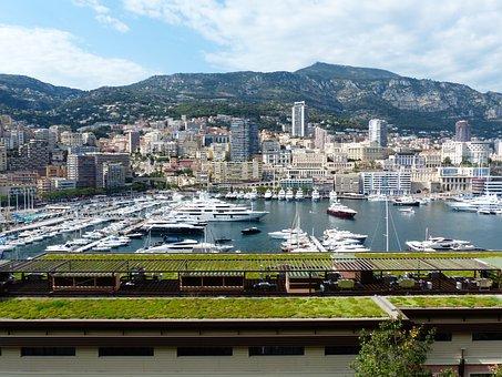 City, Skyscrapers, Hafe, Ships, Yachts, Marina, Monaco