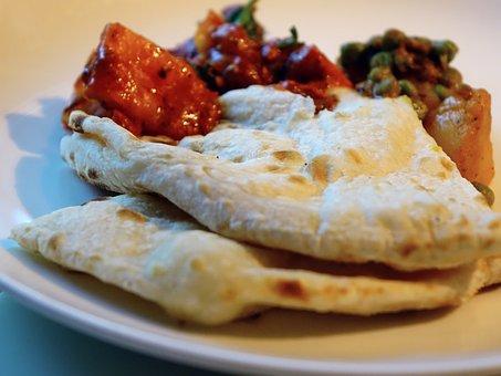 Naan, Khamiri, Bread, Snack, Indian, Masala, Chicken