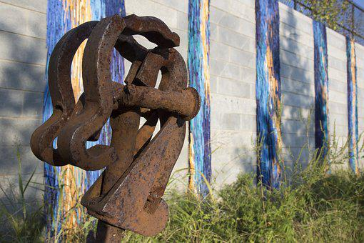 Metal, Art, Metal Art, Atlanta, Industrial Art, Close