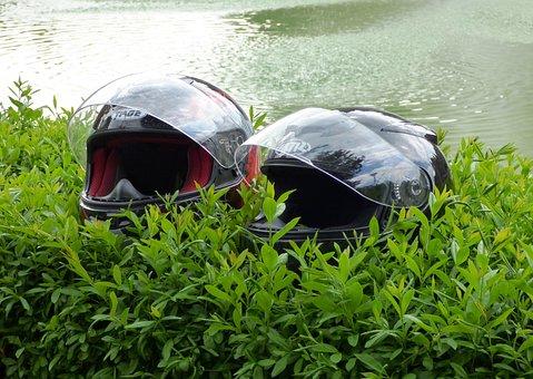 Helmet, Helmets, Motor, Nature, Motorcycle, Safety