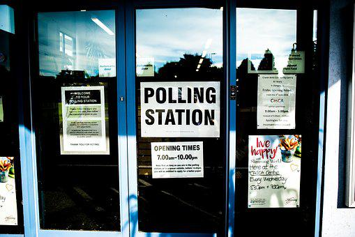 Doors, Polling Station, Sign