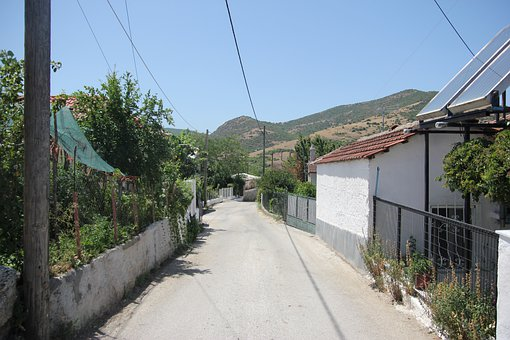 Greece, Villiage, Roads, Residential, Housing, Houses