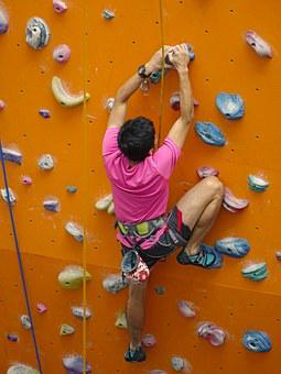 Climbing, Rope, Rappelling, Wall, Rock, Extreme, Sport
