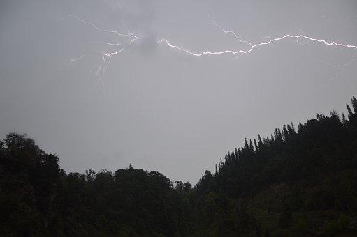 Silver Lining, Cloud, Lightning, Gray Lightning
