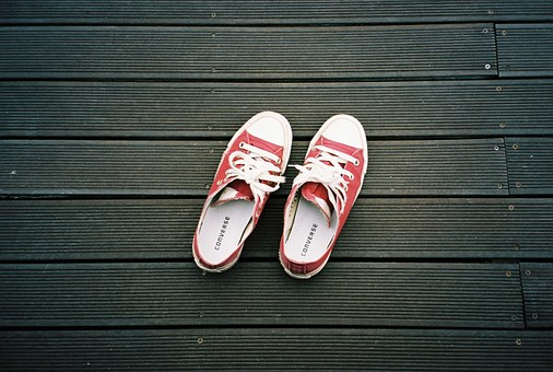 Shoes, Sneaker, Converse, Sneakers, Canvas Screen, Red