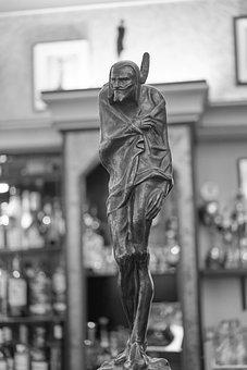 Mephisto, Devil, Leipzig, Bar, Statue, Fig