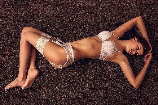 Sexy, Lingerie, Bra, Stockings, Woman, Young Woman