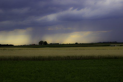 Rain, Clouds, Cloudburst, Thunderstorm, Summer Rain