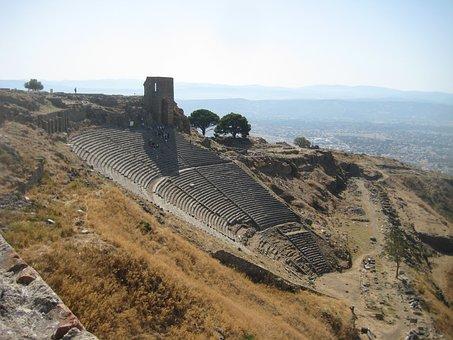 Pergamon, Amphitheater, Turkey, Hillside Theater