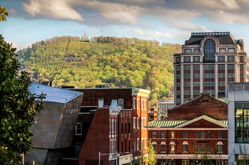 Town, Urban Center, Hillside, Roanoke Star