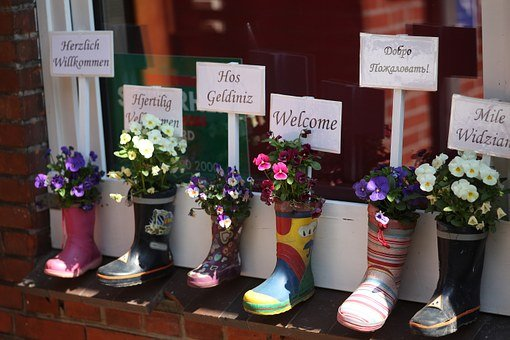 Kindergarten, Welcome, Friendly, Rubber Boots