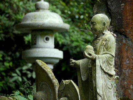 Guardian Deity Of Children, Stone, Mountain, Woods