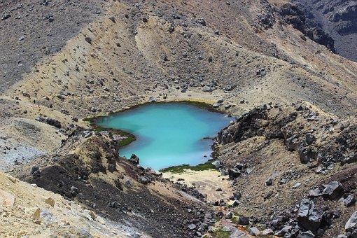 Tongariro, New Zealand, Park, Tourism, Trekking, Alpine