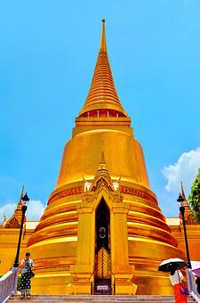 Temple, Wat, Church, Architecture, Culture, People