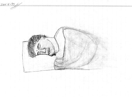 Hand Drawing, Man Sleeping, Draw, Art, Drawing, Doodle