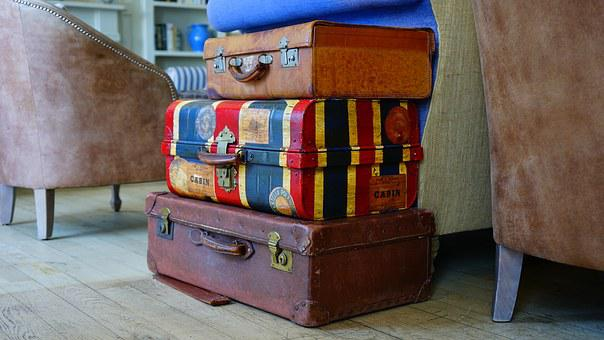 Luggage, Bags, Suitcase, Baggage, Brown, Case, Trip