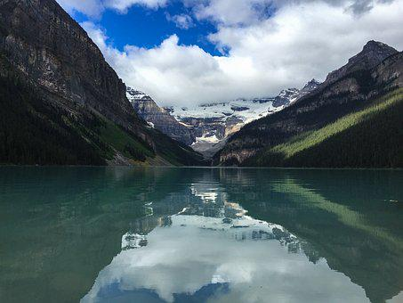 Lake, Banff, Canada, Louise, Emerald, Park, Alberta