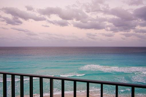 Cancun, Mexico, Clouds, Ocean View, Tropical, Beach