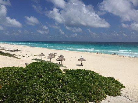 Cancun, Mexico, Beach, Delfines Beach