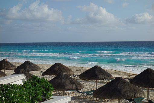 Cancun, Rest, Beach, Landscape, Relaxation, Holiday