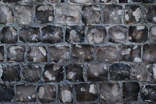 Flint, Church, Wall, Texture, Napped, Stone, Building