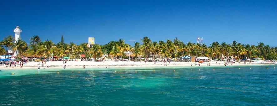 Cancun, Beach, Mexico, Sea, By The Sea