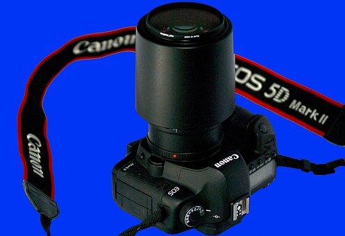 Camera, Canon Camera, Slr, Lens, Body, Carrying Strap