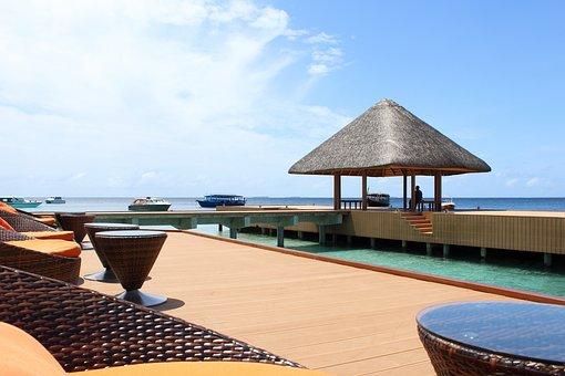 Maldives, Sea, Beach, Seating Arrangement, Chair