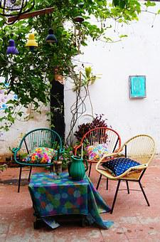 Summer, Chair, Outdoors, Summertime, Lounge, Plant