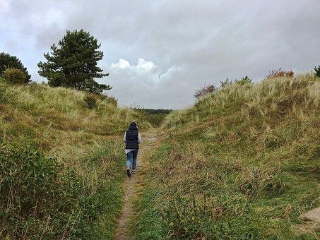Dunes, Ameland, Holland, Nature, Clouds, Holiday, Coast