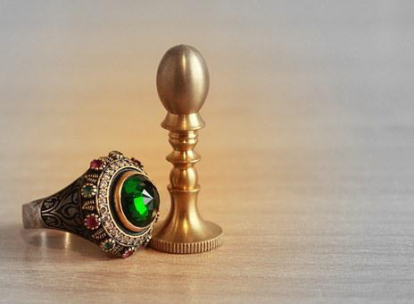 Ring, Print, Stamp, Jewelry, Emerald, Jeweler, Power