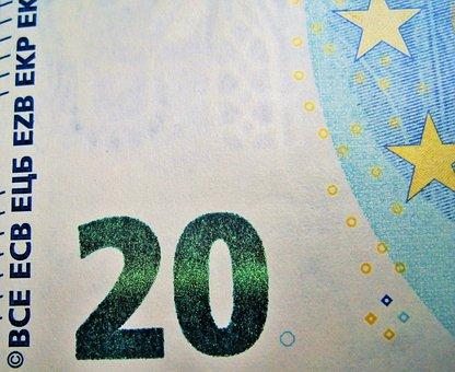 Twenty Euros, Detail, Emerald-paid, New Twenties