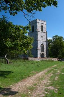 English Country Estate, Private Church, Knapped Flint