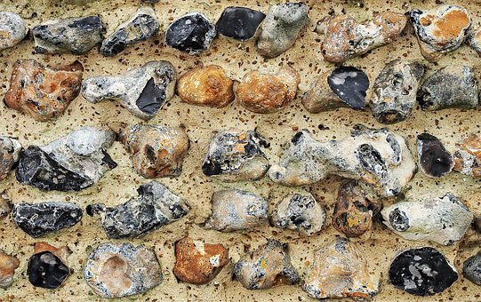 Flint, Wall, Stone, Knapped, Building, Coarse, Course