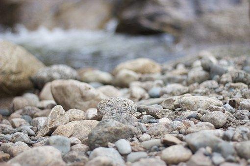 Pebbles, Stones, Flints, River, Bed, Natural, Material