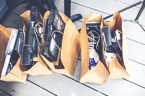 Shop, Shopping, Bags, Gift, Brown, Blank, Market