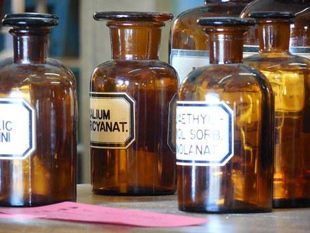 Apothecary, Bottles, Medicine, Medical, Health, Glass