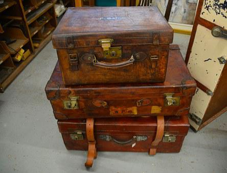 Suitcases, Trunks, Boxes, Luggage, Travel, Holiday