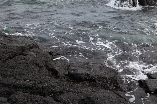 Sea, Basalt, Jeju Island, Waves, Blue, Jeju, Nature