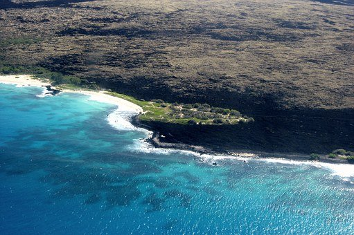 Hawaii, Aerial Photograph, Bird's Eye, Sea, Lava, Earth