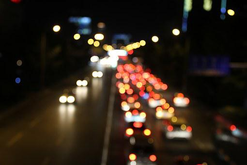 Night View, Delay, Street, Bokeh, Light