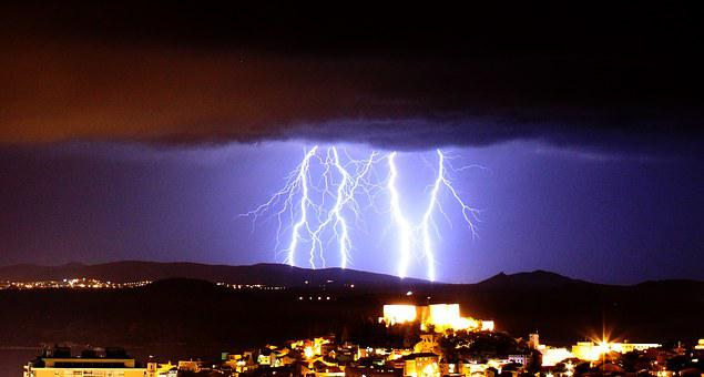 Lightning, Storm, Clouds, Rain, Thunder