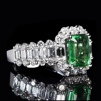 Emerald, Ring, Luxury, Diamond