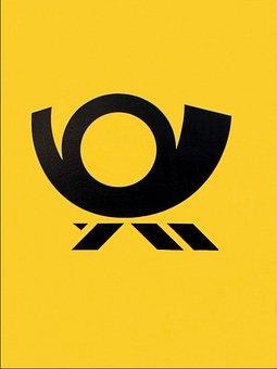 Post Horn, Post, Logo, Icon, Mailbox, Symbol, Emblem