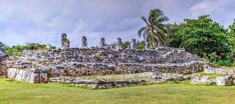El Ray, Cancun, Mexico, Archeological, Nature, Ruins