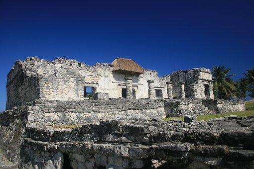 Tulum, Ruins, Maya, Mexico, Vacation, Tropical, Riviera