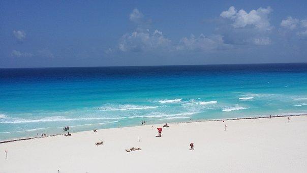 Beach, Cancun, Mexico, Ocean, Vacation, Travel